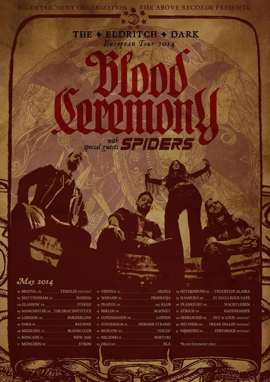 Blood Ceremony + Spiders Tour